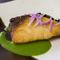 和食の焼き魚をイメージした『ブリのポワレ春菊のエッセンス』
