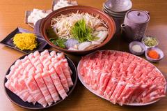 <2時間飲み放題付き> 高級ラム肉&ハーブ三元豚しゃぶしゃぶが食べ放題