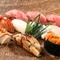 天然素材にこめた匠の技を存分に披露された江戸前寿司