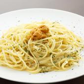 生ウニだけで濃厚な風味を醸し出した『国産ウニのスパゲティー』