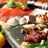 食材にこだわりあり! 厳選された野菜や肉をつかった料理を堪能