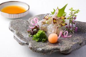 甘みと食感が際立つ『車海老の刺身』
