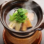 椀物代わりにいただく『甘鯛と筍の鍋』
