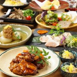 季節ごとに旬の野菜や肉を使用した毎月変わる「暁」コース♪ボリュームのあるお得な大人気のコースです!