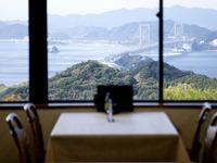 淡路島の絶景を眺めながら、美味しい料理をご堪能いただけます
