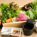 食べ放題の包み野菜セット