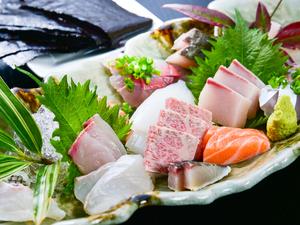 佐賀近海の季節の味わいが満載、『刺身盛合わせ』