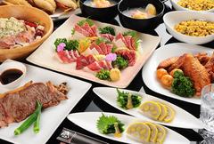 熊本の食材を贅沢に使用した飲み放題付のコースです!(※G.W.、12/30~1/3まで利用不可)