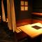 プライベート空間を感じられる半個室、接待にも最適