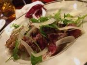 トスカーナのシンプルな肉料理 パルミジャーノチーズ・バルサミコ酢でお召し上がりください