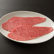 ウワミスジ、カタカブリ、シェフ厳選の赤身肉