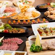 テーブルのレイアウト自由自在。お料理もお打ち合わせ可能ですので、自分たちに合った宴会が創れます。