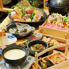 季節の食材と、お豆腐を使った各コースはオススメです