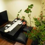 座敷は、テーブル席(堀ごたつ)を完備