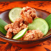 「モチ粉」を使った鶏の唐揚げ。