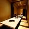 プライベートな空間を人数にあわせて選べる完全個室