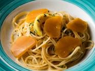 スパゲッティ カラスミとレモンのアーリオ オーリオ エ ペペロンチーノ