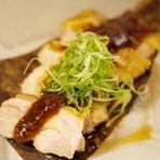 鶏ムネ肉朴葉(ほうば)味噌焼き