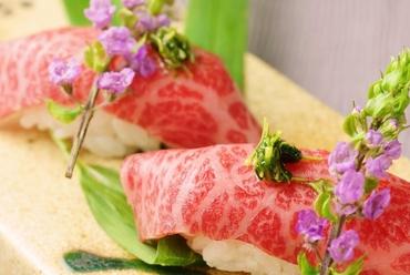尾崎牛 炙り寿司 1貫