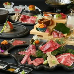 尾崎牛尽くしの贅沢三昧コース。焼物のフィレは尾崎牛ならではの最高級の一品です。