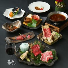 尾崎牛の焼き物盛り合わせと、贅沢なサーロインとリブロースを味わえる1番人気のコースです。