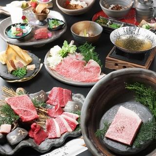 尾崎牛のみを使用したコースは5700円~ご用意できます。