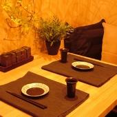 2名様から個室案内可能。大阪キタのデート時のお食事にも最適