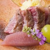 『信州プレミアム牛のサーロインステーキ』はグルメなおいしさ