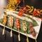 料理長こだわりの鶏料理『串焼』には、朝挽き鶏を使っています