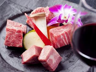 サシの色と味わいに定評のある厳選した「佐賀牛」