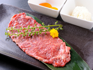 自家製タレが自慢の『松坂牛焼スキ』