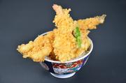 穴子、イカのかき揚げ、海老一本、野菜