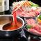 『2色鍋』のスープは味噌、醤油、白キムチ、チゲから2つチョイス
