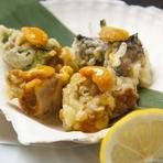 新感覚の食感が絶妙な美味しさ! 『生ウニの天ぷら』