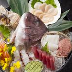 刺身盛合せ 海鮮陶板焼きなど全6品のコース 飲み放題付き(2時間)はプラス1,500円/お一人様