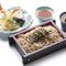 サクッと揚がった天ぷらと香り高いそば『天ざる(富そば)』