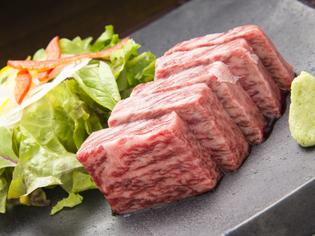 塩とわさびでさっぱりいただける『宮崎牛ランプステーキ』