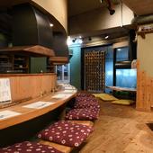 夙川駅から徒歩5分、通り沿いにある和食料理店