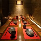 有名デザイナー監修の隠れ家個室空間。宴会・飲み会などに最適!