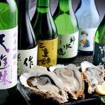 「浦村カキ」と一緒に味わいたい。三重の銘酒も品揃え豊富