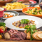 前菜から様々なお肉をお楽しみいただける肉バルコース♪自慢の肉料理と人気のチーズの相性は抜群!