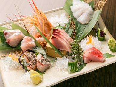 南青山ひふみお勧め! 【玄海灘直送の天然魚】『お造り盛合せ』