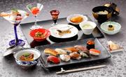 東京湾初!!船内に寿司カウンターを新設。 江戸前寿司を中心に、月替わりの和のコースでもてなす「碧い海の輝き12ヶ月」