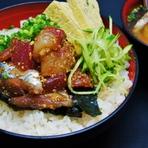 地魚の胡麻醤油漬け丼