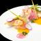 天然真鯛とホタテのソテー-ソースサフラン