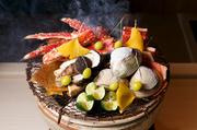 甘鯛柿の葉焼 松茸 銀杏 焼き蛤 焼タラバ