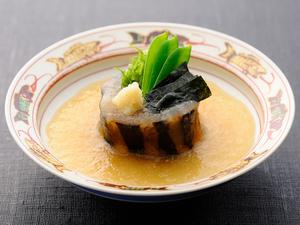 最高級の食材を、贅沢に使用して焼き上げた『賀茂茄子煮おろし』