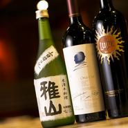 ドリンクは定番ものを中心に、日本や焼酎、ワインなどを幅広くオンリスト。そんななかでも、総支配人の胡子氏が推すのがシャンパン。旨味が濃厚な米沢牛の味を受け止め、爽やかな口当たりが絶好の口直しとなります。