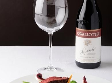 ソムリエが、料理に合わせて最適なお酒を提供します