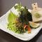 酒の肴におすすめ。活〆した『長崎産サバ刺盛り』